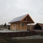 Schopf mit Indach System Tri Roof +