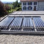 Vacuum Röhrenkollektoren Solarthermie Anlage