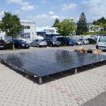 Vorbereitetes Solarfeld